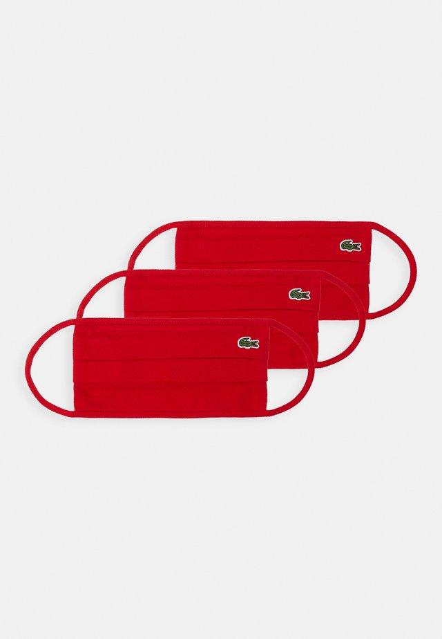 UNISEX 3 PACK - Stoffen mondkapje - rouge