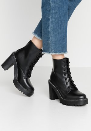 ARCHIEE - High heeled ankle boots - black paris