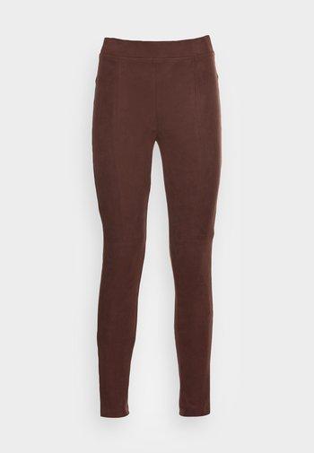 Leggings - Trousers - rust brown