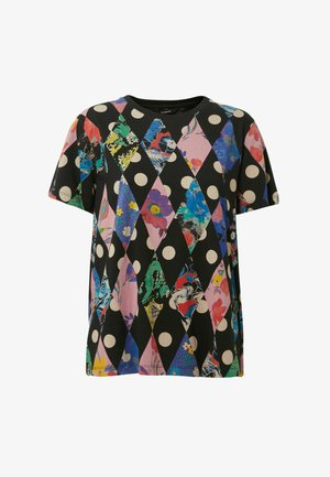 DIAMOND SHAPES  - Camiseta estampada - black