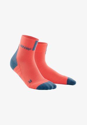 Sports socks - coral/grey