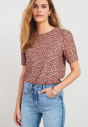 RUCHED - Blouse - brown
