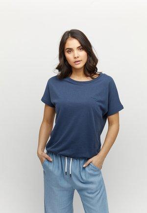 MARBLE - Basic T-shirt - navy melange