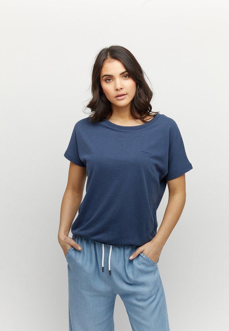 Mazine - MARBLE - Basic T-shirt - navy melange