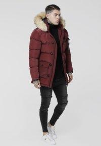 SIKSILK - PUFF - Winter coat - burgundy - 1