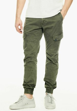 Cargo trousers - deep army
