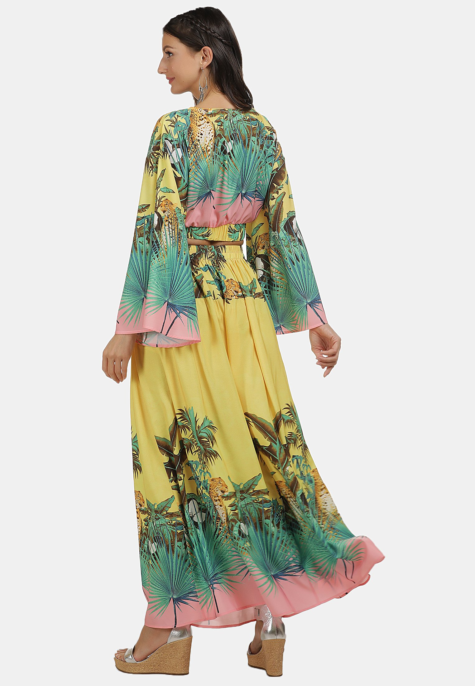 Best Price Women's Clothing IZIA Pleated skirt tropical print m9ckm6AkB
