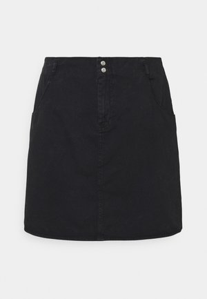 NMASHLEY SHORT SKIRT - Mini skirt - black denim