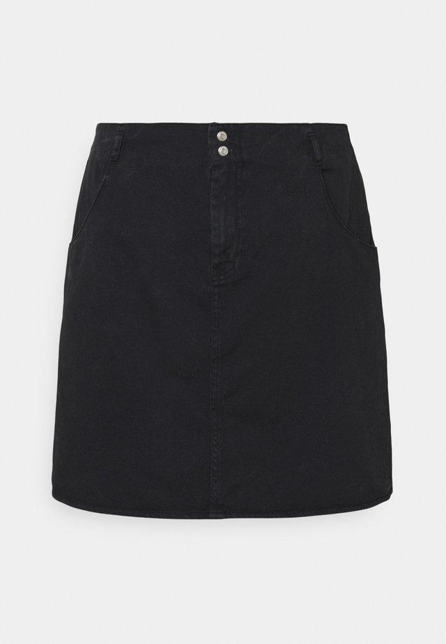 NMASHLEY SHORT SKIRT - Minikjol - black denim