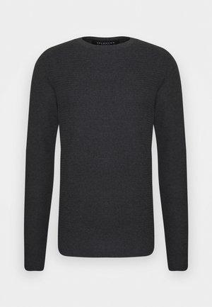 SLHCORNELIUS STRUCTURE  - Stickad tröja - antracit melange