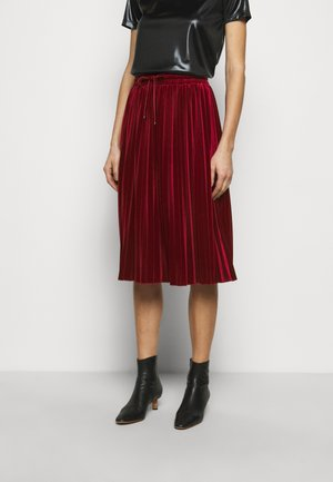 BACIARE - Veckad kjol - burgundy