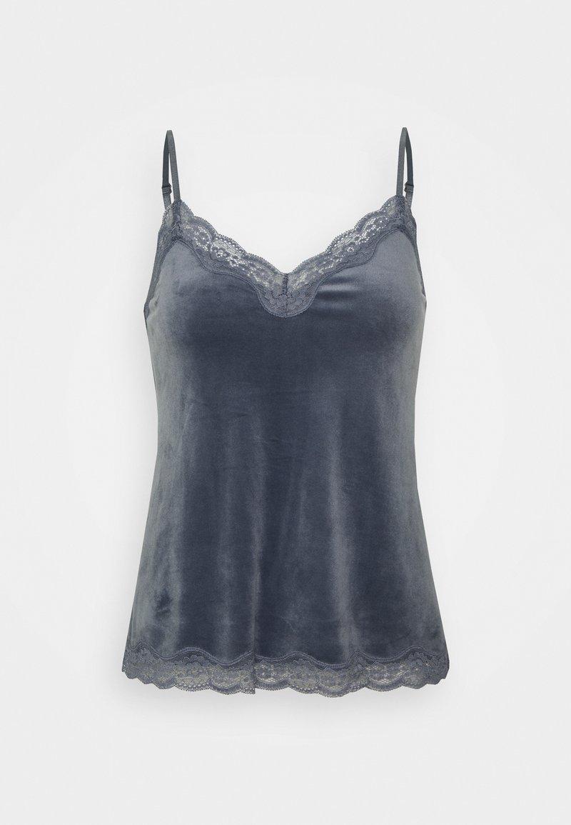 Hunkemöller - CAMI SCALLOP - Pyjama top - folkstone grey