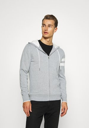 ICON STRIPE HOODY - Gilet - grey