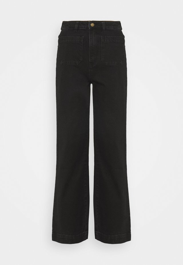 SAILOR - Flared Jeans - jet black