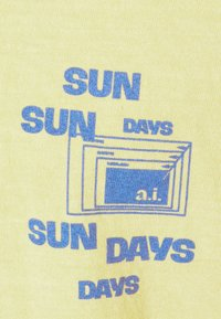 BDG Urban Outfitters - SUNDAY TEE UNISEX - Print T-shirt - yellow - 5