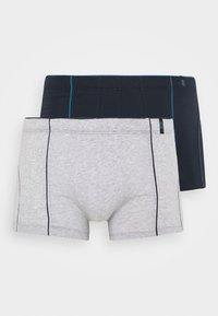 2 PACK  - Pants - dark blue/mottled grey
