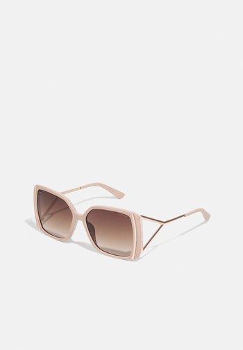 Solbriller - shiny beige/gradient brown