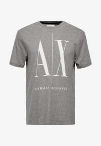 Armani Exchange - Print T-shirt - grey - 4