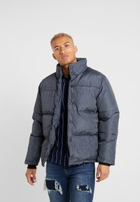 Topman - STRIPE PUFFER - Winter jacket - black - 0