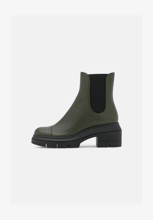 NORAH - Platform ankle boots - hunter