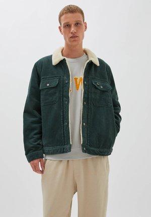 Summer jacket - mottled dark green