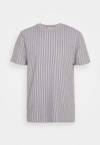 WAFFLE STRIPE - T-shirt z nadrukiem - grey