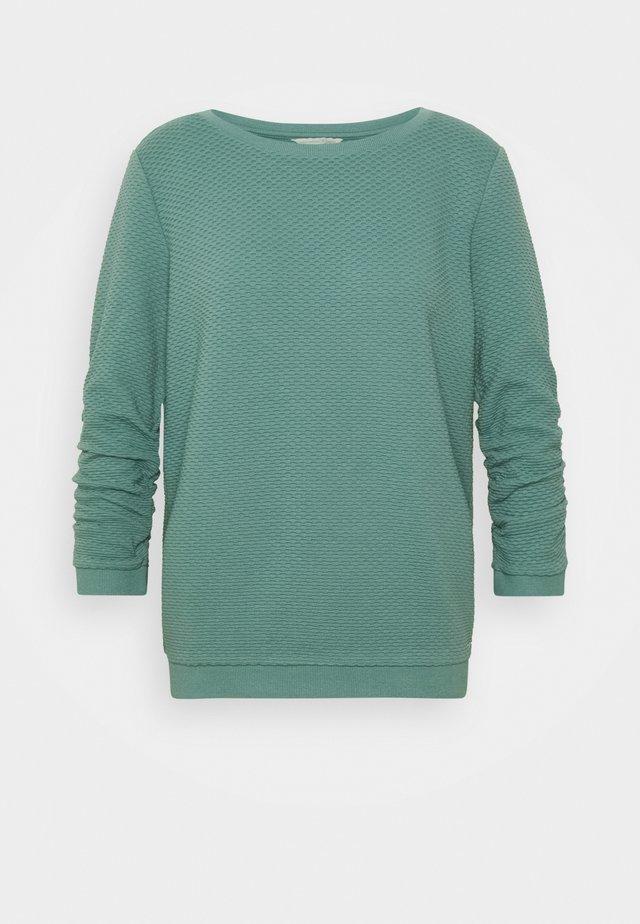 STRUCTURED - Sweatshirt - mineral stone blue