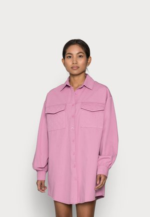 QUILTED POCKET DRESS - Shirt dress - dusty pink