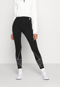 adidas Originals - LOGO TIGHTS - Leggings - Trousers - black - 0