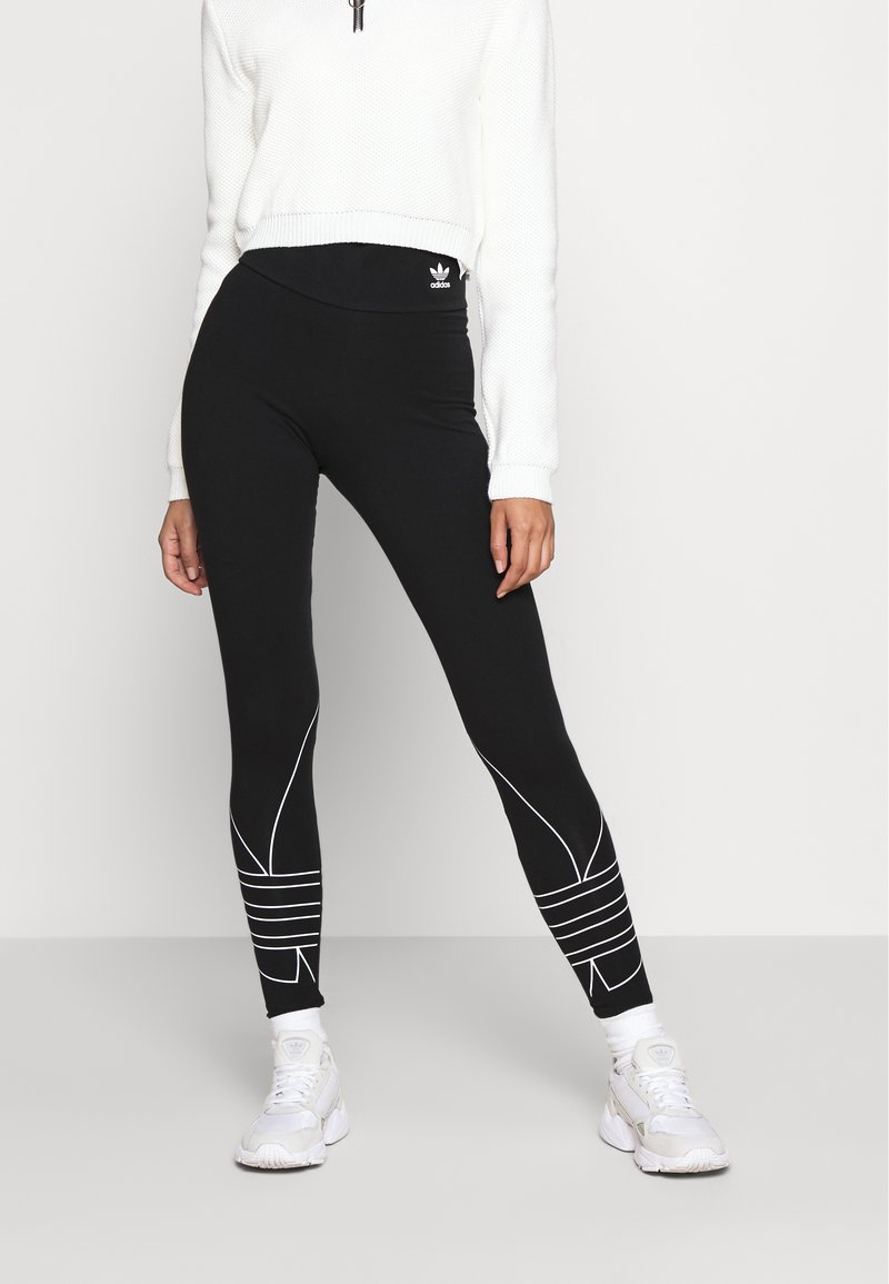 adidas Originals - LOGO TIGHTS - Leggings - Trousers - black