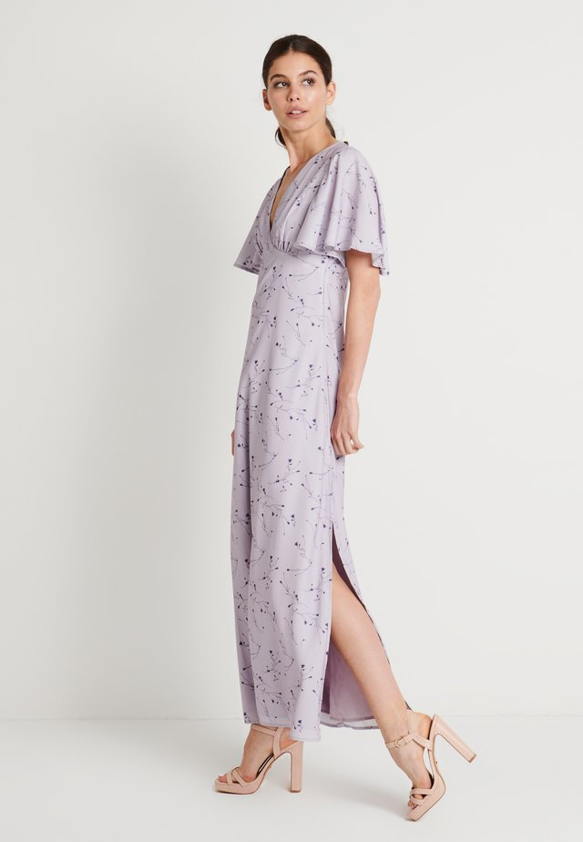 ZALANDO X NA-KD V NECK FLOWY DRESS - Gallakjole - lilac