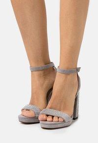 River Island Wide Fit - Platform sandals - grey - 0