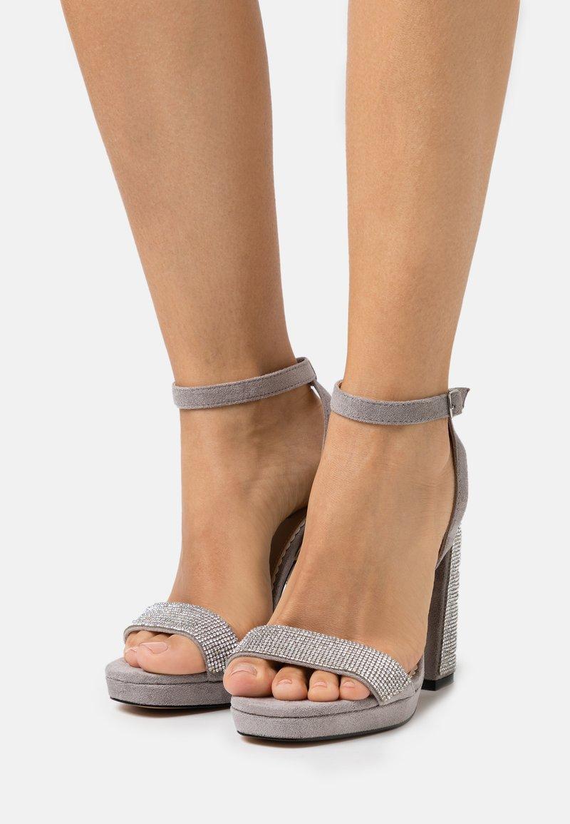 River Island Wide Fit - Platform sandals - grey
