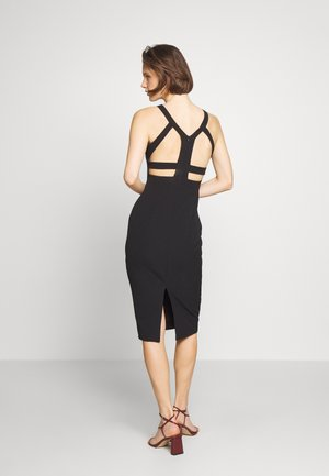 KIRMIZI - Shift dress - black