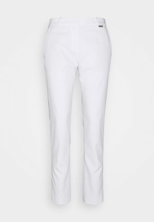 HEDIAS SOFT STRUCTURE - Trousers - white