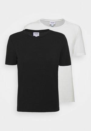 VMAVA 2 PACK - Basic T-shirt - black/snow white