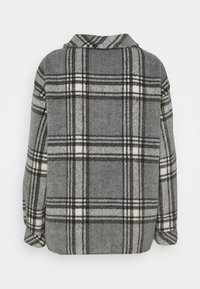 Missguided Petite - BRUSHED CHECK SHACKET - Button-down blouse - grey - 1
