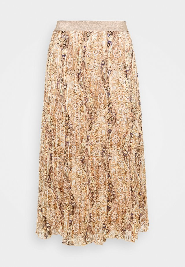 SKIRT PLISSE - A-lijn rok - brown