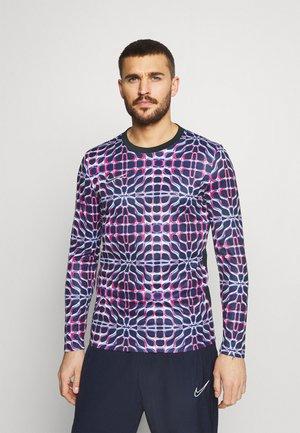 DRY ACADEMY - Sports shirt - blackened blue/signal blue/black/white