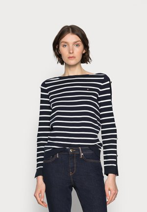 BUTTON BOAT SWEATER - Pullover - blue