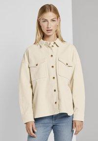 TOM TAILOR DENIM - Button-down blouse - soft creme beige - 3