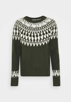 COZY FAIR ISLE - Trui - dark rosin green
