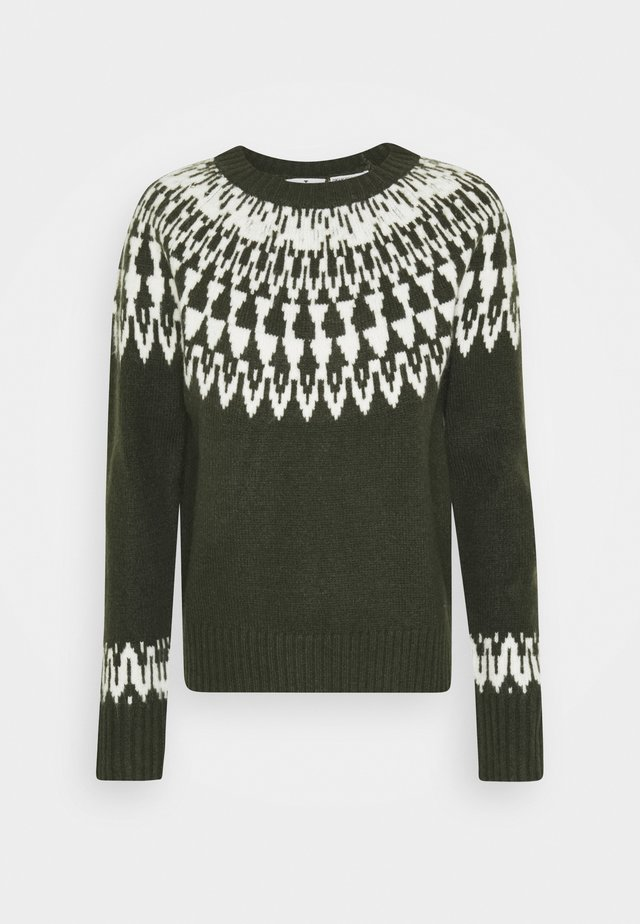 COZY FAIR ISLE - Maglione - dark rosin green