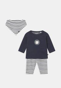 Staccato - SET UNISEX - Leggings - Trousers - dark blue/off-white - 0
