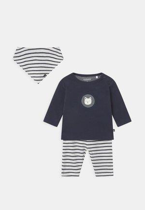 SET UNISEX - Leggings - Trousers - dark blue/off-white