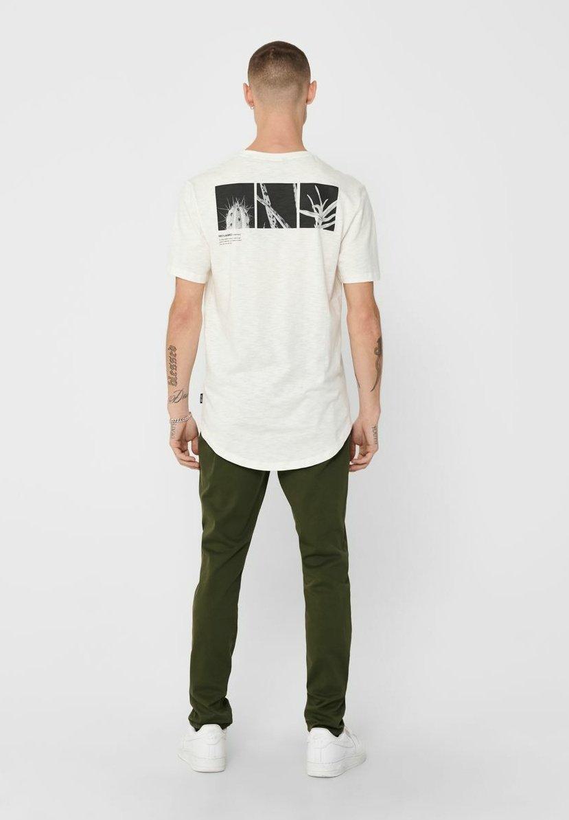 Only & Sons Print T-shirt - cloud dancer aBfuc