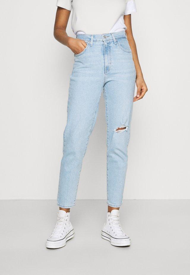 HIGH WAISTED TAPER - Straight leg jeans - light-blue denim