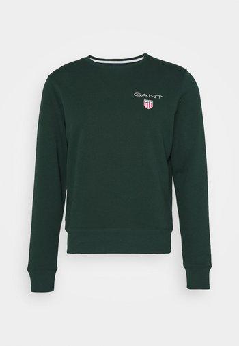 MEDIUM SHIELD CNECK - Sweatshirt - tartan green