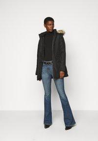 Noisy May Tall - NMOCTAVIA LONG JACKET - Winter coat - black - 1