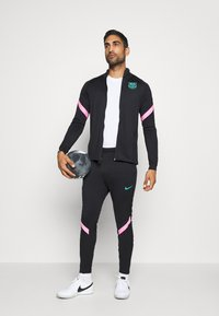 Nike Performance - FC BARCELONA DRY SUIT - Club wear - black/black/pink beam/new green - 1